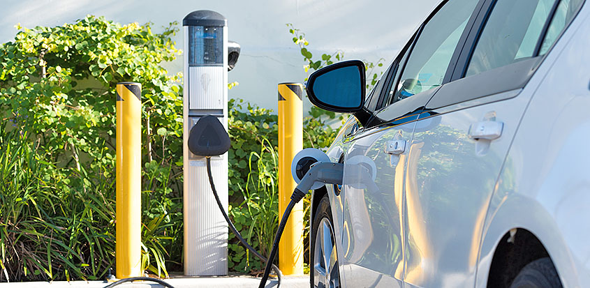 Electric charging columns